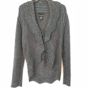 Cardigan for Chilly Summer Nights Gray size L